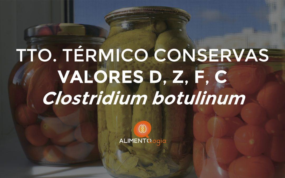 Tratamiento térmico en Conservas: Valores D, Z, F, C y Clostridium botulinum