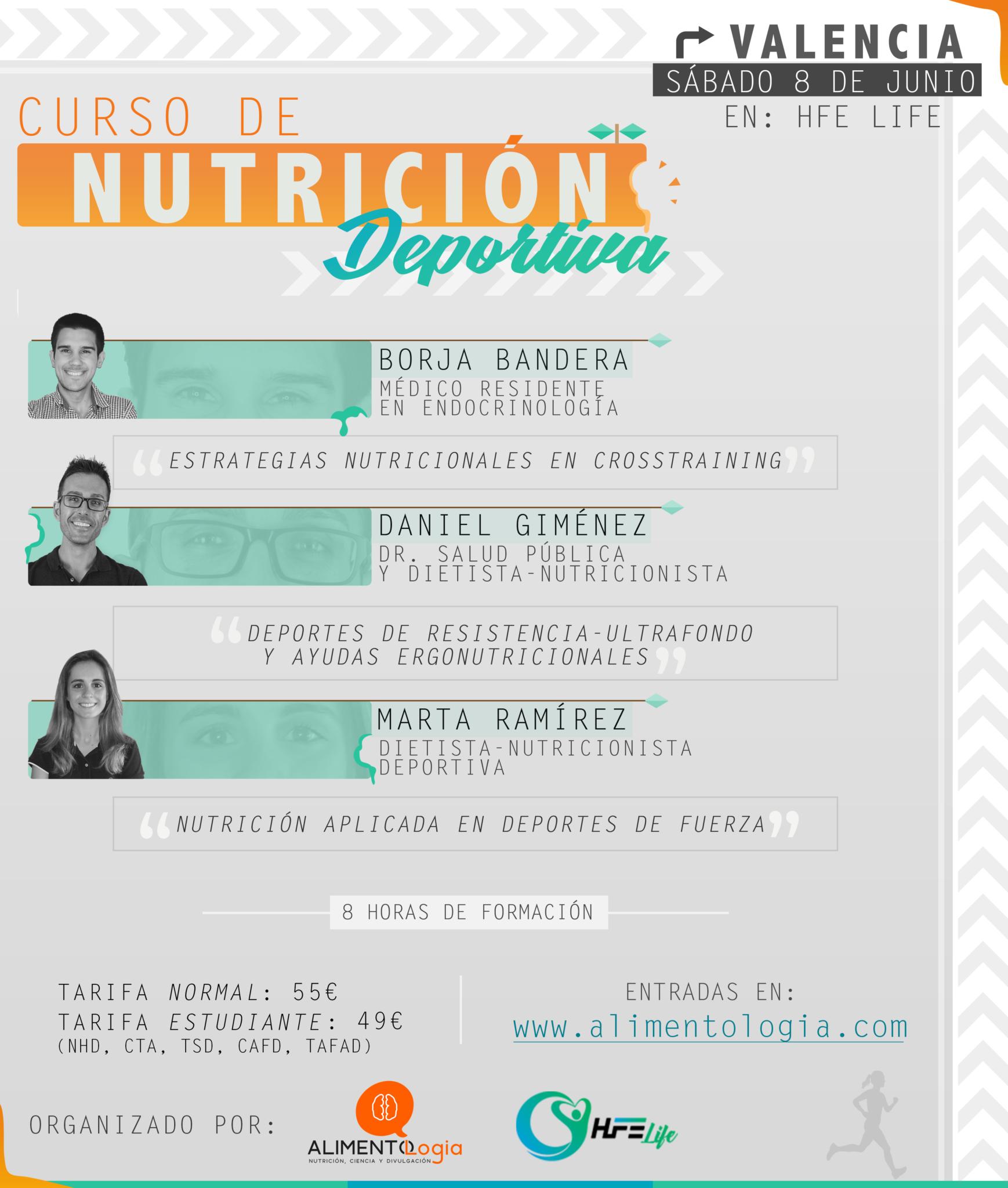 Curso presencial Nutrición Deportiva