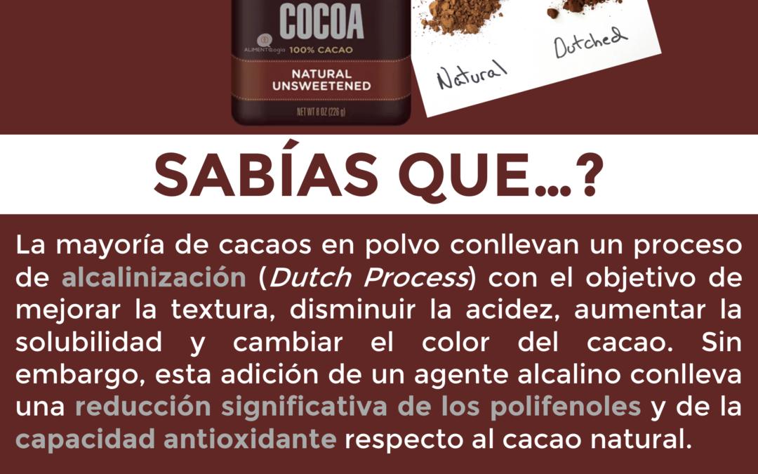 Diferencias entre Cacao puro alcalinizado y natural