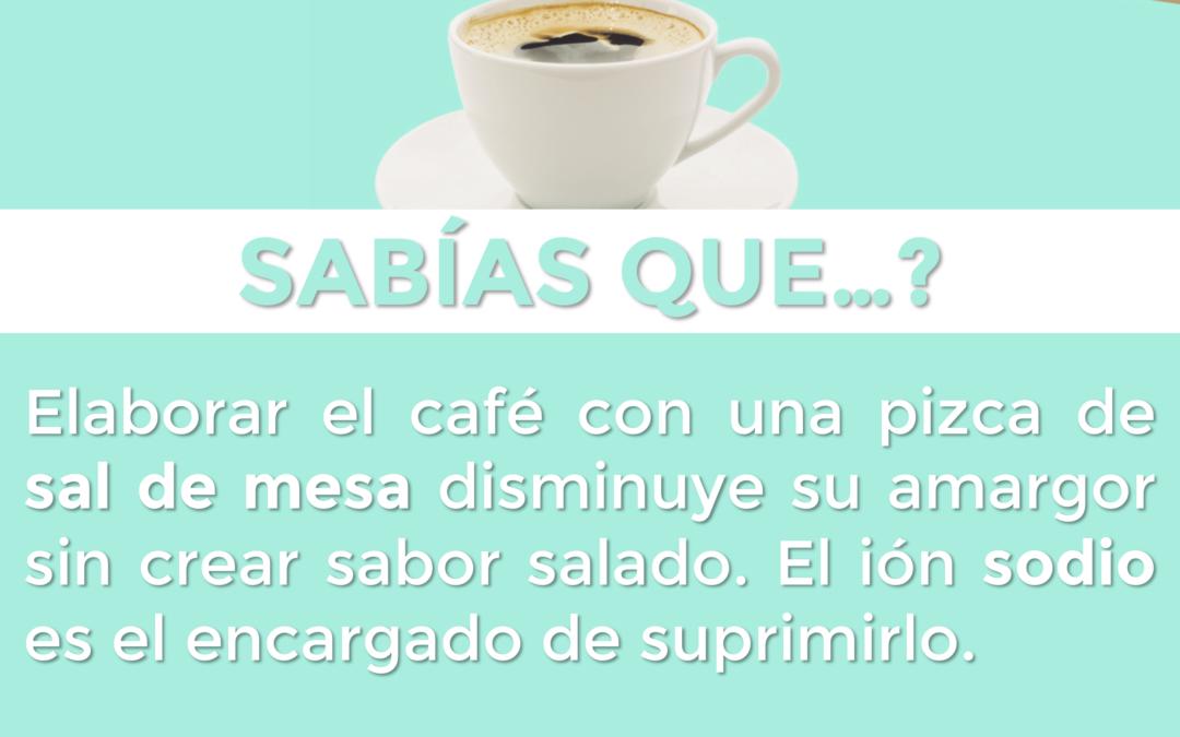 ¿Reducir el amargor del café? ¡Échale una pizca de sal!