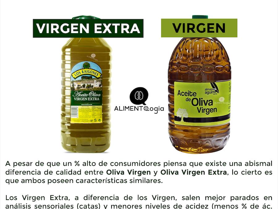 ¿Diferencias entre Aceite Oliva Virgen y Virgen Extra?