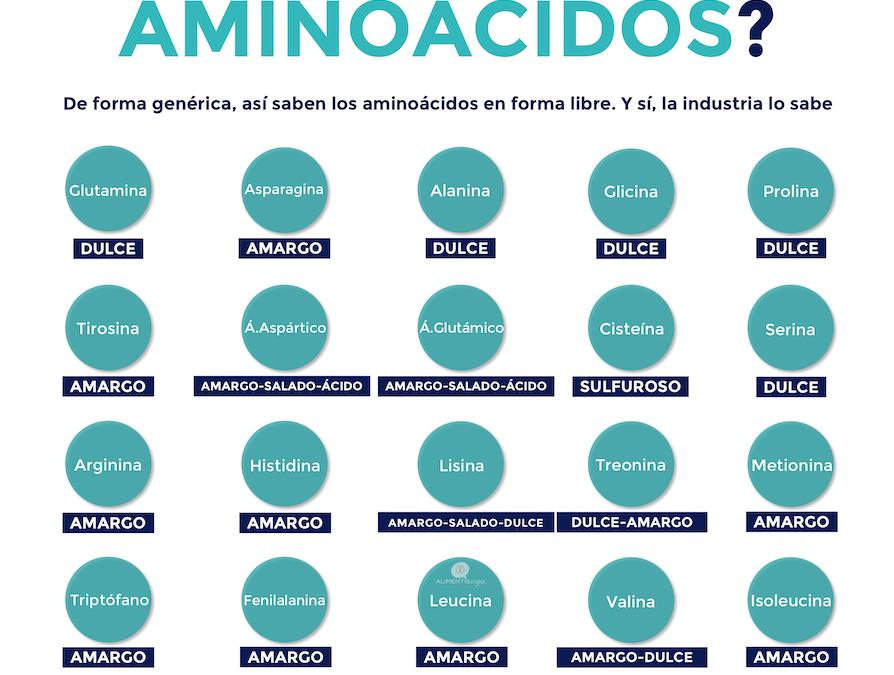 ¿A qué saben los aminoácidos en forma libre?