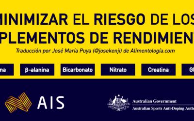 La Seguridad del consumo de Suplementos de Rendimiento según el Instituto Australiano del Deporte (AIS)
