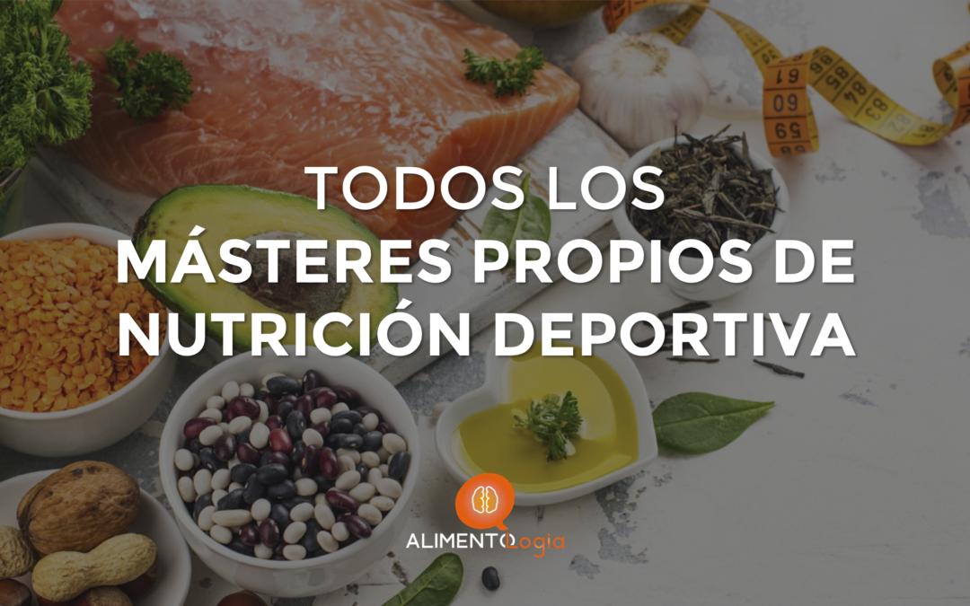 Todos los Másteres Propios de Nutrición Deportiva en España